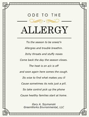 Ode to the Allergy