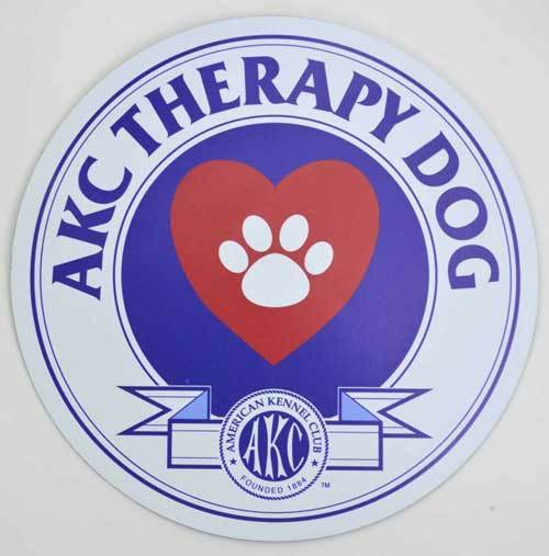 AKC Therapy Dog Badge